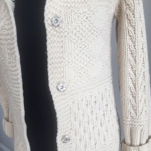 American Eagle Hand Knit Lambs Wool Sweater